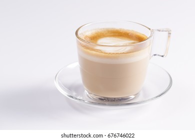 A Cappucino cup on white background