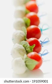 Caprese on a Stick : Cherry Tomato, Mozzarella & Basil