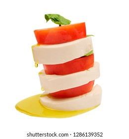 Caprese Salad on a White Backgrounds