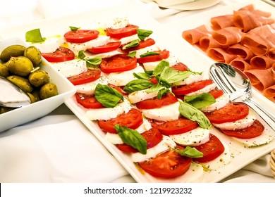 Caprese salad. Traditional italian salad