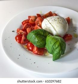 capreze salad^ mozzarella di buffalo