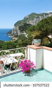 Capri, Balcony view / View from balcony, Capri Island, Italy