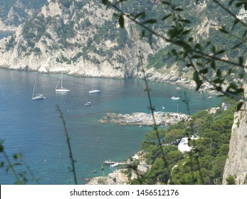 Capri, an island in Italy's Bay of Naples, is famed for its rugged landscape, upscale hotels and shopping, from designer fashions to limoncello and handmade leather sandals. Blue Grotto.