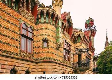 Capricho Gaudi, Comillas, Cantabria, Spain