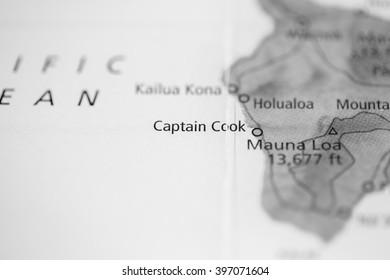 Captain Cook. Hawaii. USA