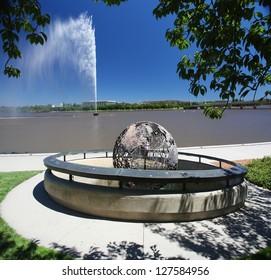 The Captain Cook Memorial in Canberra, Australia