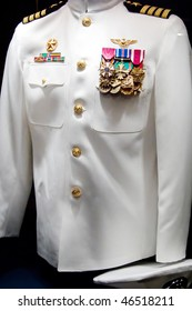 The captain's uniform on display