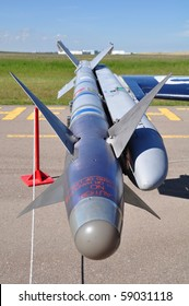 Captive Air Training Missile (CATM) with inert warhead and rocket motor for training purposes.