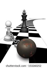 Captured chess piece