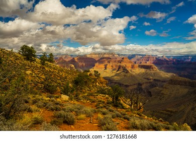 I  captured this image at Yuma Point of the Boucher Trail in the S. Rim of Grand Canyon NP in Arizona. The lower portion of the Boucher Trail can be seen far below.