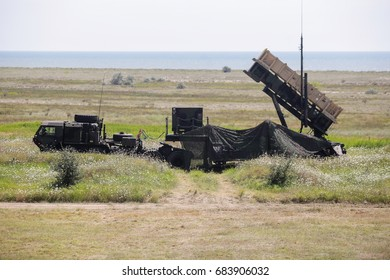 CAPU MIDIA, ROMANIA - JULY 19: Patriot defence missiles system at a joint US-Romanian military drill, on July 19, 2017, in Capu Midia.