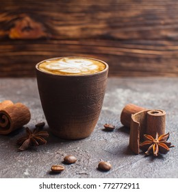 Capuccino with spices