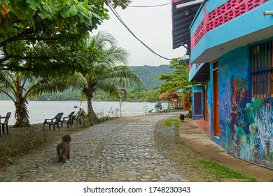 Capurgana, Choco, Colombia. September 12, 2019: Landscape of the colorful streets of Capurgana.