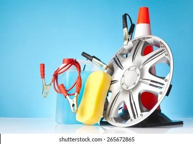car accessories,car service concept