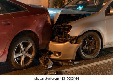 Car accident crush on street