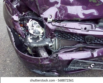 Car accident. Front body damage.