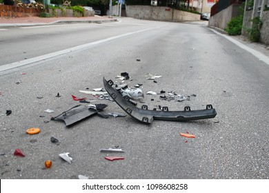 car accident on the road