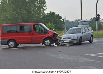Car accident on the road, Germany, 22.07.2017, Calau