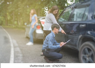 car accident resulting in an insurance claim being assessed and processed