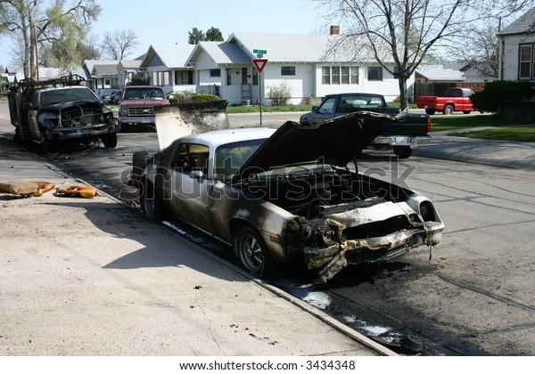 Car after a fire