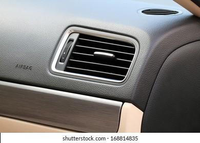 car air conditioner close-up