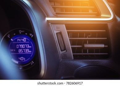 Car air conditioning system,Button on dashboard in car panel