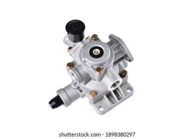 car air distributor, truck pneumatic system air distributor, car parts, car pneumatic system repair, auto pneumatic system parts, close-up white background