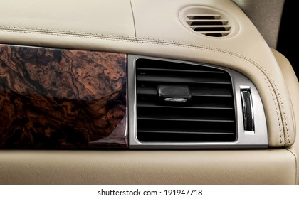Car airbag panel and air conditioning hole.