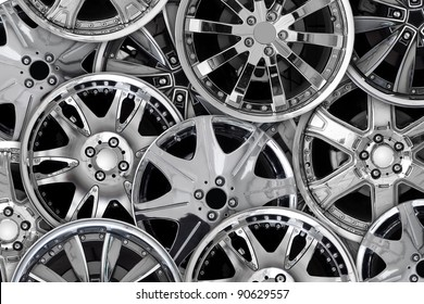 Car alloy background template for design work