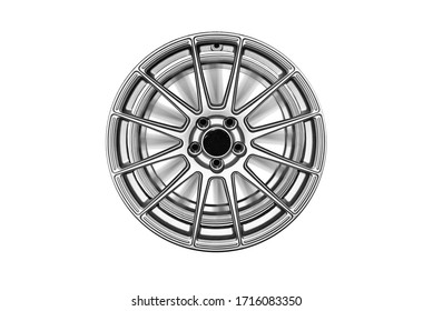 Car Alloy Isolated legs white background cliping part