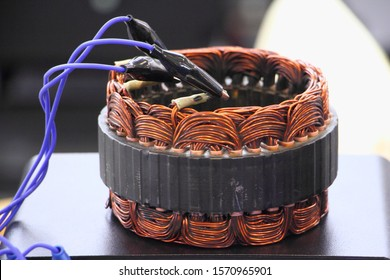 Car alternator coil repair, stator test