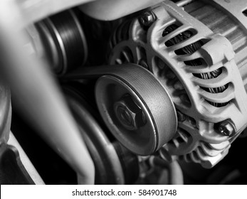 Car Alternator and Timimg belt- Converting Mechanical Energy to Electrical Energy Inside a Car