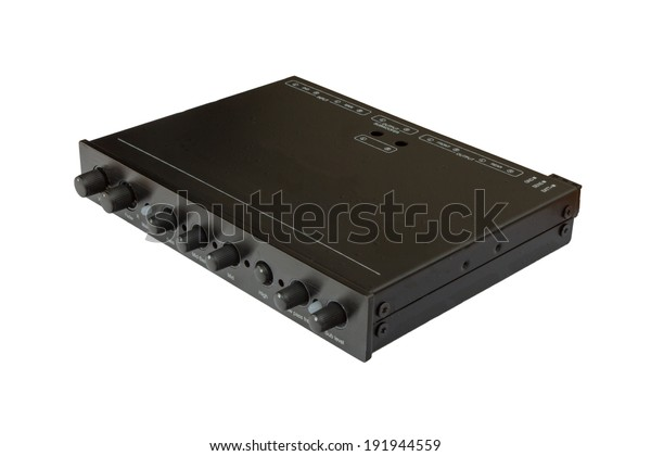 Car Audio On Isolated Car Equalizer Stock Photo Edit Now 191944559