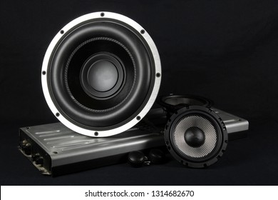 Car audio system.Car music.