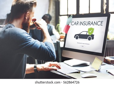 Car Auto Motor Insurance Reimbursement Vehicle Concept