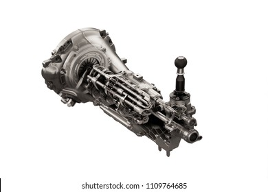 ? car automatic transmission part.  Isolated on white background.