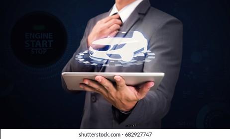 Car automobile for finance sale insurance rent concept