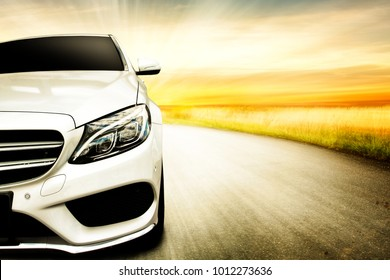 Car and background of free space for your decoration.