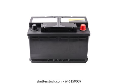 Car battery isolated on white background.