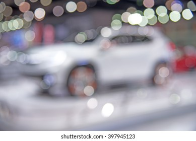 Car bokeh background, Abstract blurred car