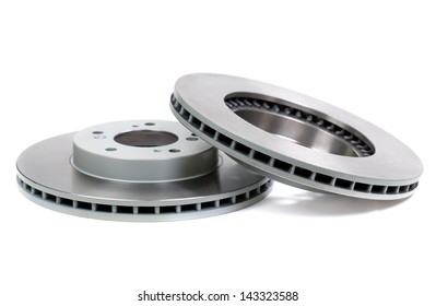 Car brake disc isolated on white backgroun