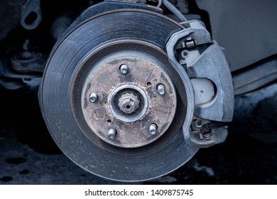 Car brake disc without wheel