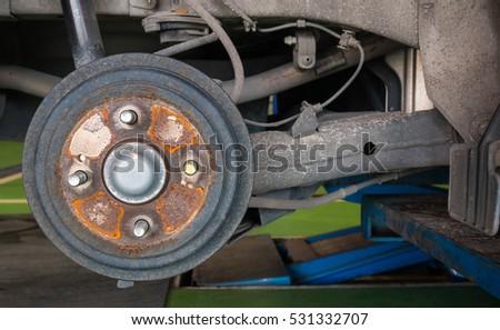 Car Brakes Stop Wheels Parts Car Stock Photo Edit Now 531332707