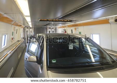 Car Channel Tunnel Train Calais Folkestone Stock Photo Edit Now