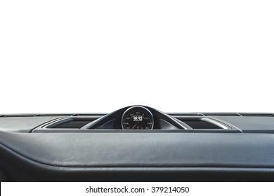 Car chronometer. Comfortable modern sports salon