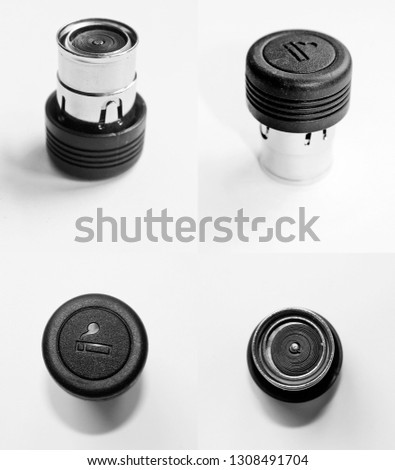 Car cigarette lighter isolated