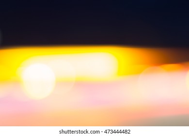 Car and city lights abstract defocused bokeh background