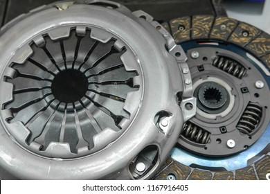 Car clutch gear close up