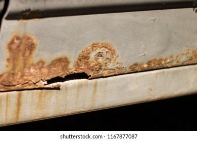 car corrosion metal rust paint