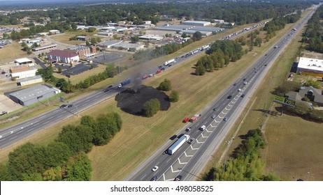 Car Crash at 12:30pm 10/13/16 in Montgomery Alabama on Interstate I-85